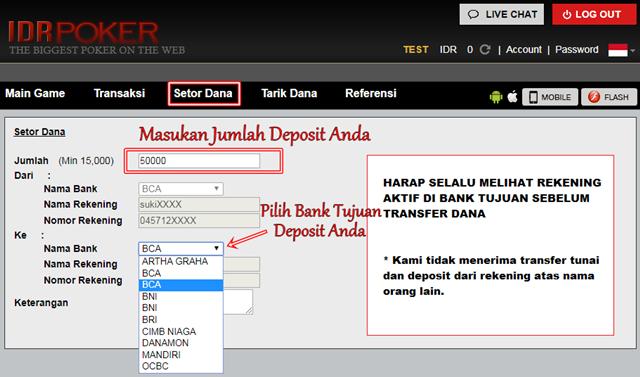 Cara Melakukan Deposit Pada Situs Pkv Games IDRPoker